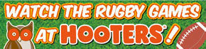 Enjoy watching the Rugby World Cup 2019 at HOOTERS!!